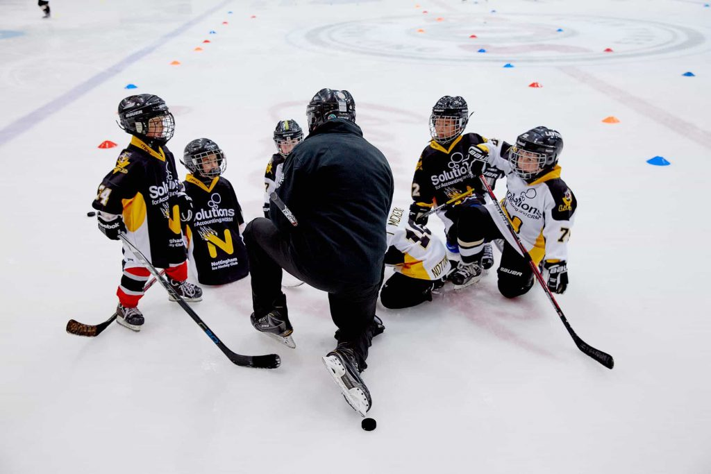Ice hockey lessons at the National Ice Centre