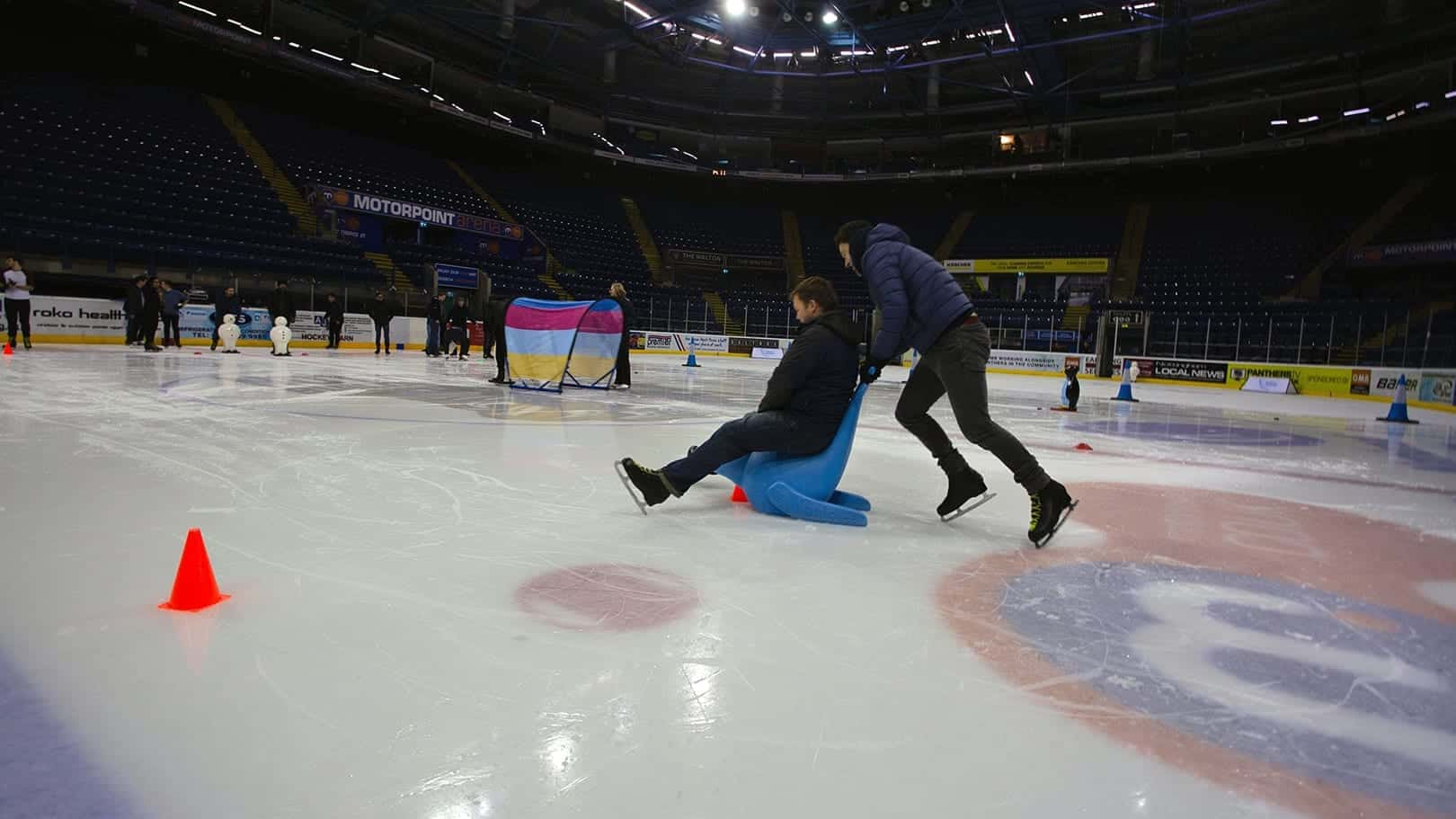 teams having fun on the ice